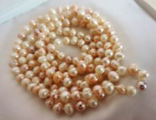 45 Inch Rope Length Cultured Pearl Necklace