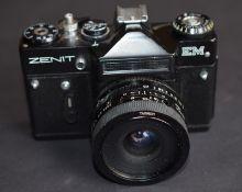 Zenit Em 35Mm Camera With Tamron 28Mm 1:2.5