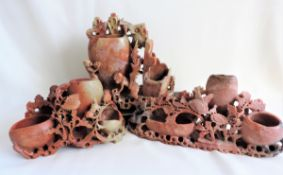 3 X Vintage Chinese Soapstone Ornaments