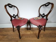The Pair Of Carved Victorian Dining Chairs