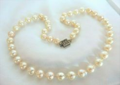 Antique Art Deco Akoya Cultured Pearl Necklace C.1930'S