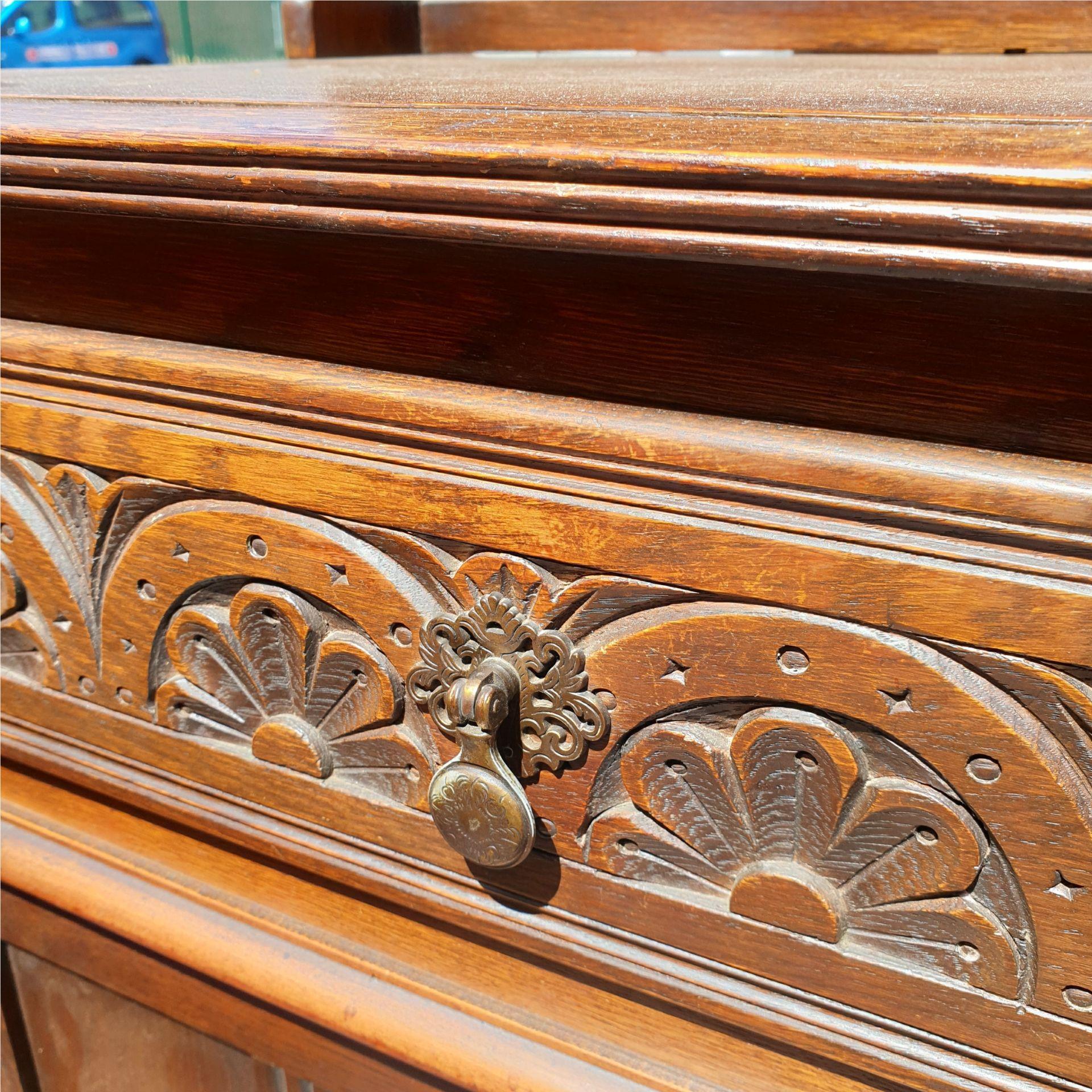 Vintage Mid Century Hardwood Welsh Style Dresser - Image 2 of 3