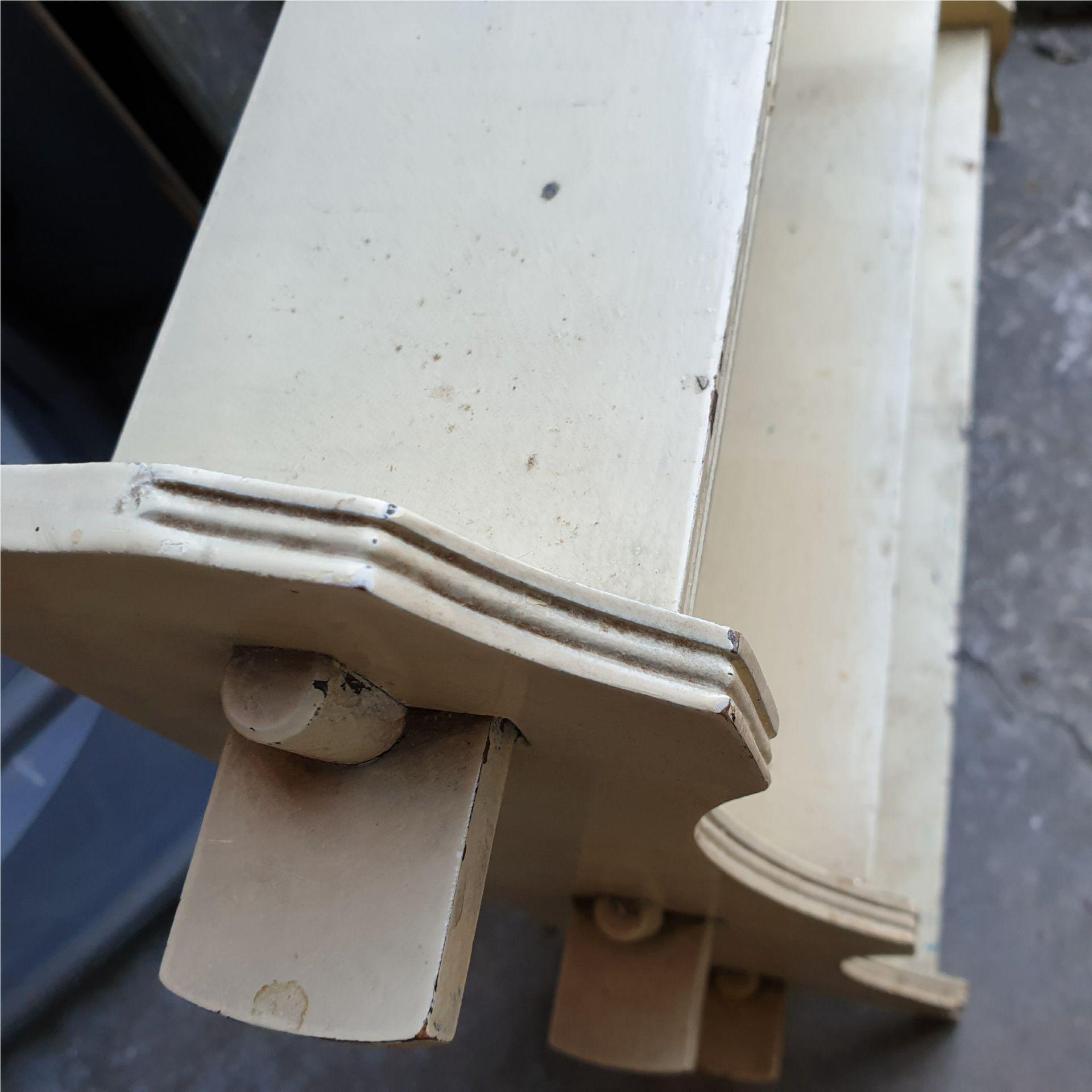Antique Edwardian Painted Hardwood Knock Down Book Shelf Unit - Image 2 of 2