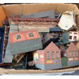Vintage Box of Assorted Model Railway Parts & Buildings Includes Hornby & Meccano