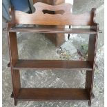 Antique Edwardian Hardwood Knock Down Book Shelf Unit