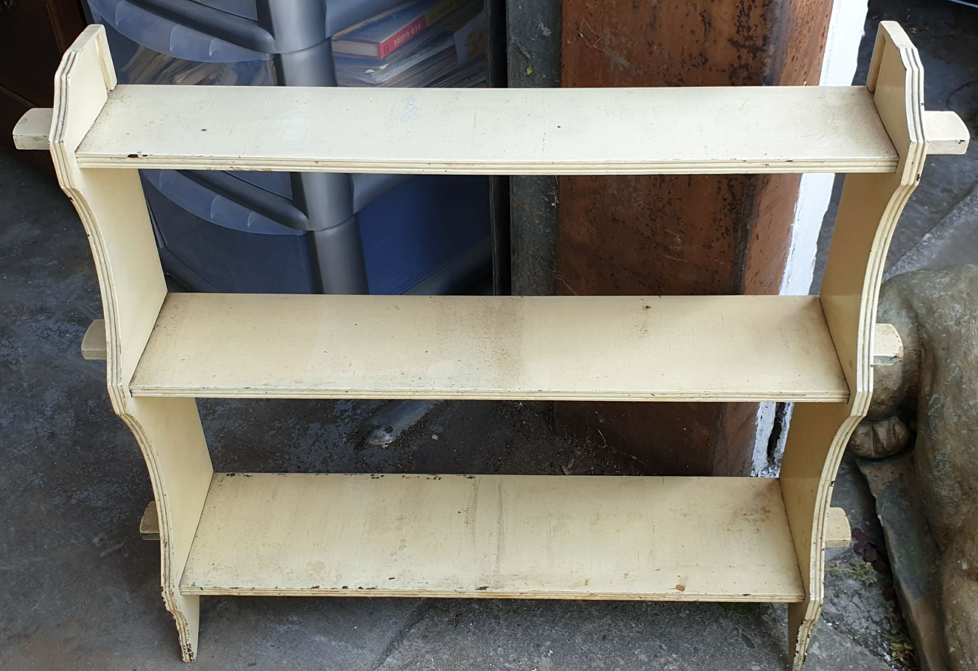 Antique Edwardian Painted Hardwood Knock Down Book Shelf Unit
