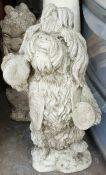 Vintage Reconstituted Dog Garden Statue