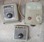 Vintage 3 x Model Railway Meccano Power Control Units