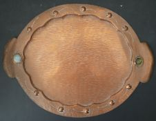 Antiques Hand Made Arts and Crafts Copper Tray