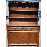 Vintage Mid Century Hardwood Welsh Style Dresser