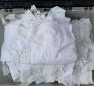 Vintage Box Of Assorted Linen