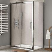 Twyfords 1600x900mm - Premium EasyClean Sliding Door Shower Enclosure.RRP £549.99. 8mm EasyCle...