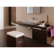 (SV66) Keramag Gerbit Silk Walnut Stool. The Silk bathroom collection is packed with many thou...