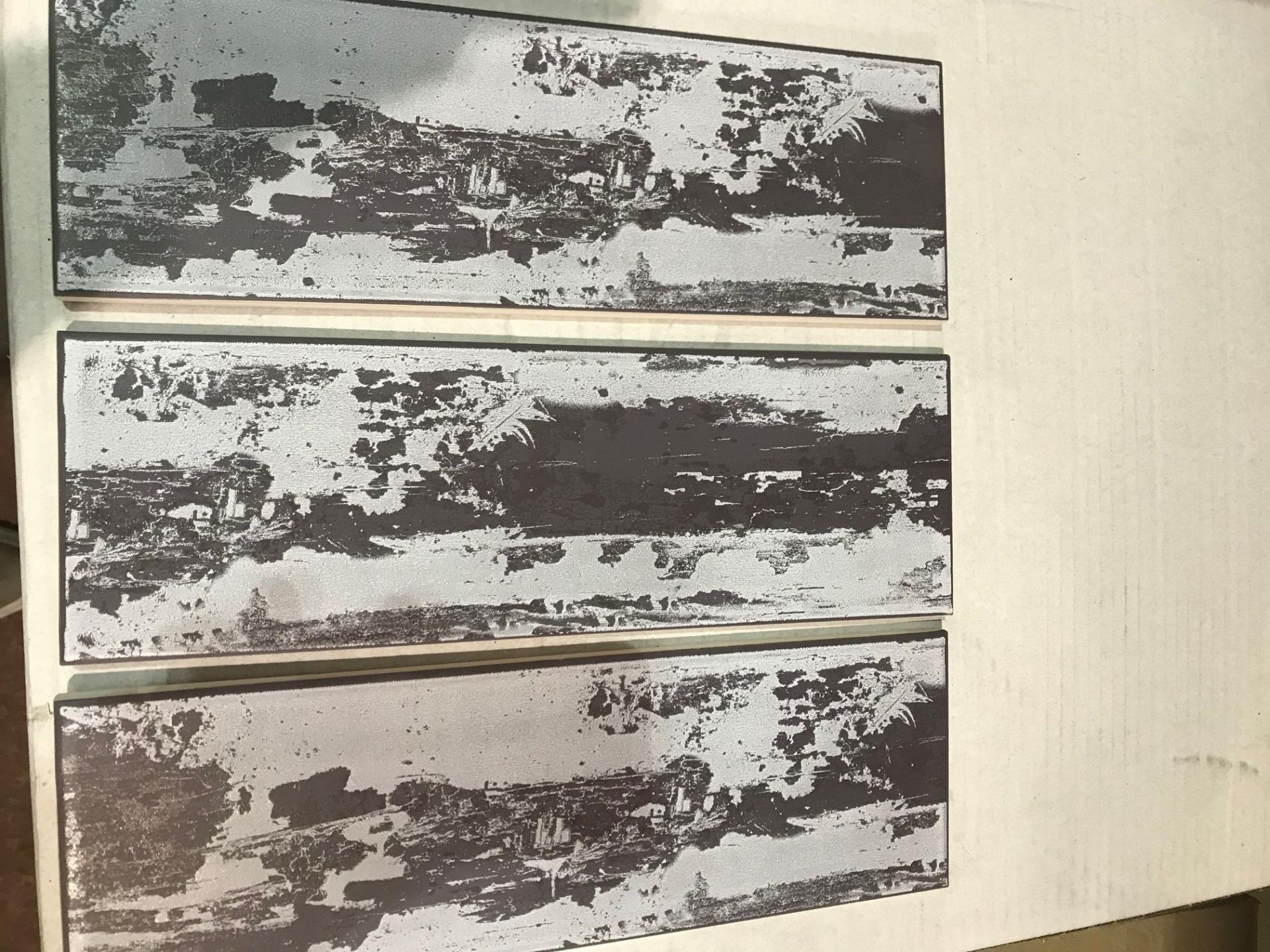 Lot 460 - 5.1m2 Aura Mulberry Satin Ceramic Wall tile. (L)300mm (W)100mm per tile. Influenced by interior...