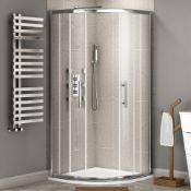 Twyfords 900x760mm - 8mm - Premium EasyClean quadrant shower enclosure. RRP £499.99.8mm EasyCl...