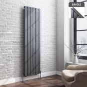 1600x452mm Anthracite Single Flat Panel Vertical Radiator. RC209.RRP £307.99 each. Designer ...