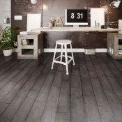 (W8) 6.6m2 Dark grey Charcoal effect Luxury vinyl click flooring. Durable and easy to clean, t...