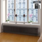 NEW & BOXED 300x1458mm Anthracite Triple Panel Horizontal Colosseum Traditional Radiator.RRP £...