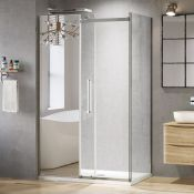 (PC36) 1000x800mm - 8mm - Designer Frameless EasyClean Sliding Shower Enclosure - 1000x800mm Sl...