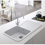 (FR36) NEW FRANKE Pebel PBG 611-97 Fragranite Polar White. The Pebel centres on a free flowing...