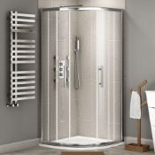 NEW Twyfords 900x800mm - 8mm - Premium EasyClean quadrant shower enclosure. RRP £499.99.8mm Ea...