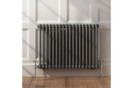 NEW & BOXED 600x828mm Anthracite Double Panel Horizontal Colosseum Traditional Radiator. RRP ?...