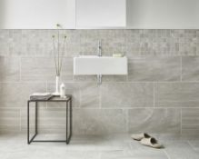 NEW 5.4m2 Bloomsbury Brook Edge Lapatto Wall and Floor Tiles. 300x600mm per tile, 8.3mm thick....