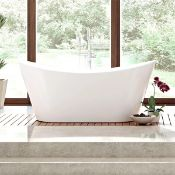 NEW (M1) 1700mmx780mm Belmont Freestanding Bath. RRP £2,999. Visually simplistic to suit any b...