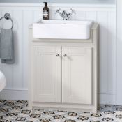 NEW & BOXED 667mm Cambridge Clotted Cream FloorStanding Sink Vanity Unit. RRP £749.99.Comes c...