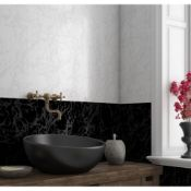 NEW 6.48m2 Ubeda Black Floor and Wall Tiles. 450x450mm per tile, 1.62m2 per pack. 8.7mm thick....