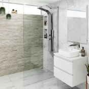 NEW & BOXED Twyfords 900mm - 8mm - Premium EasyClean Wetroom Panel. Rrp £399.99.H85950CP. 8m...