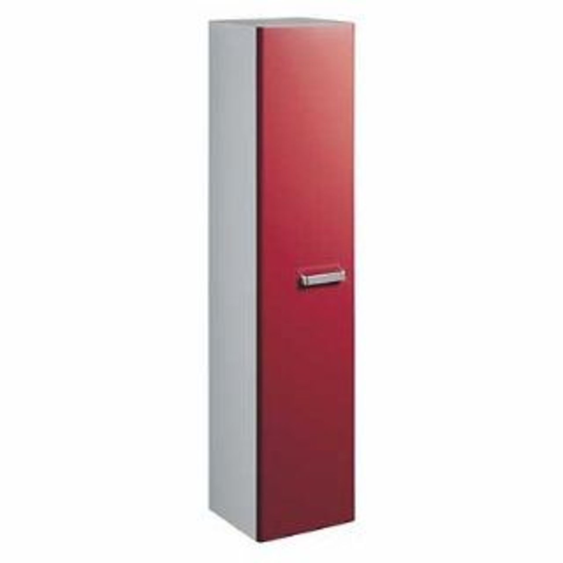 Lot 814 - Brand New (SA24) Twyford 1730mm Galerie Plan Red Tall Furniture Unit. RRP £666.99. Red gloss finish
