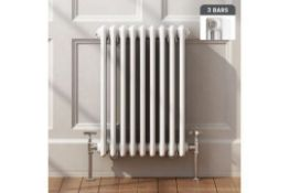 NEW & BOXED 600x600mm White Triple Panel Horizontal Colosseum Traditional Radiator. RRP £399....