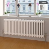 NEW & BOXED 300x1148mm White Triple Panel Horizontal Colosseum Traditional Radiator. RRP £444...