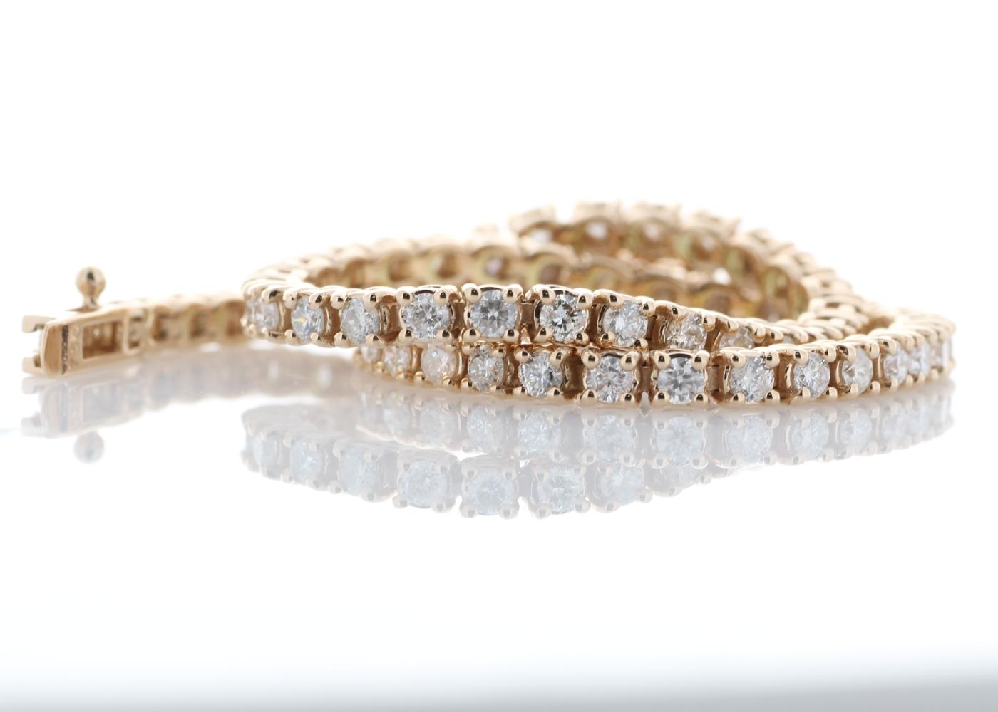 Lot 6 - 18ct Rose Gold Tennis Diamond Bracelet 2.00 Carats