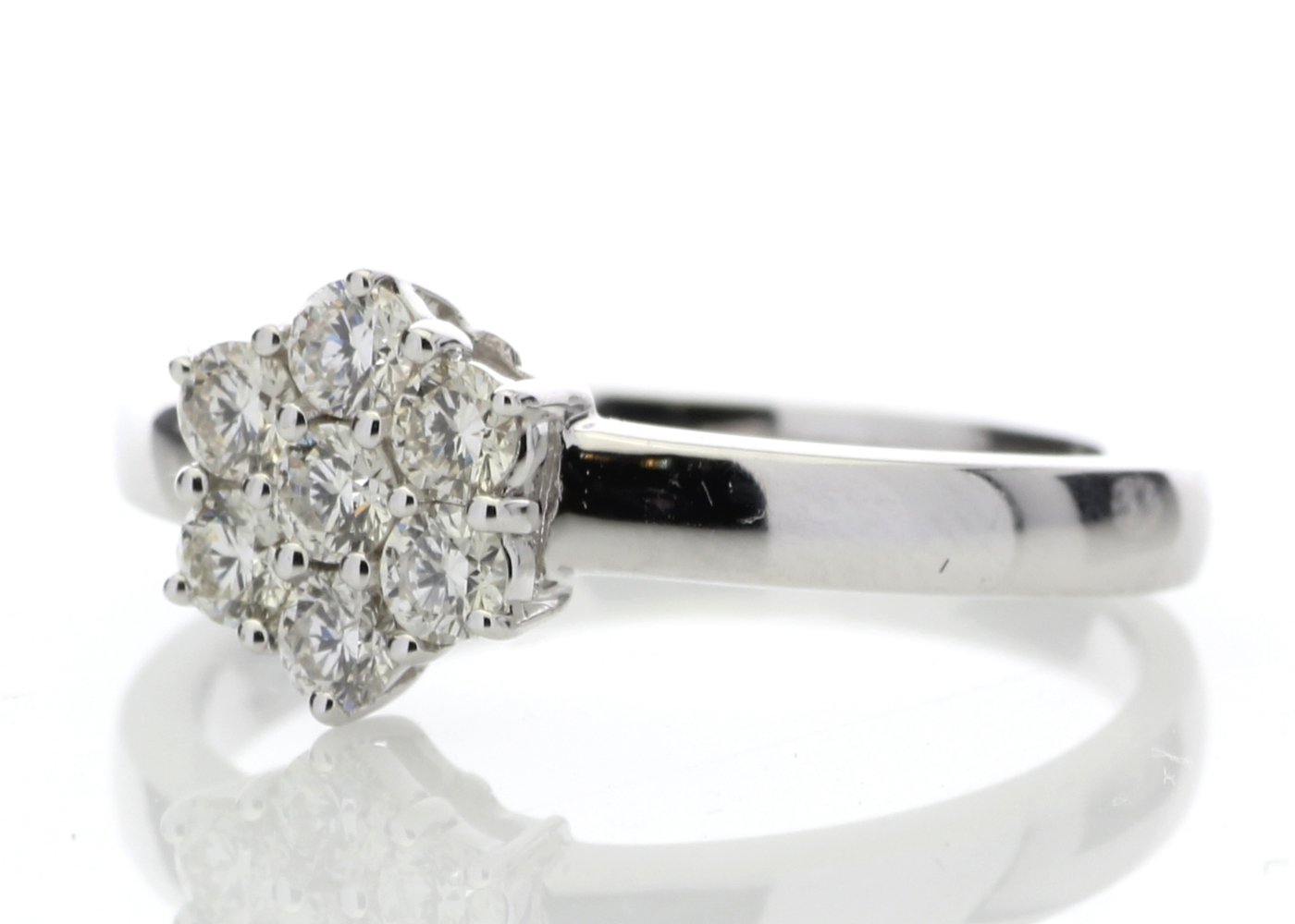 Lot 56 - 9ct White Gold Diamond Cluster Ring 0.45 Carats