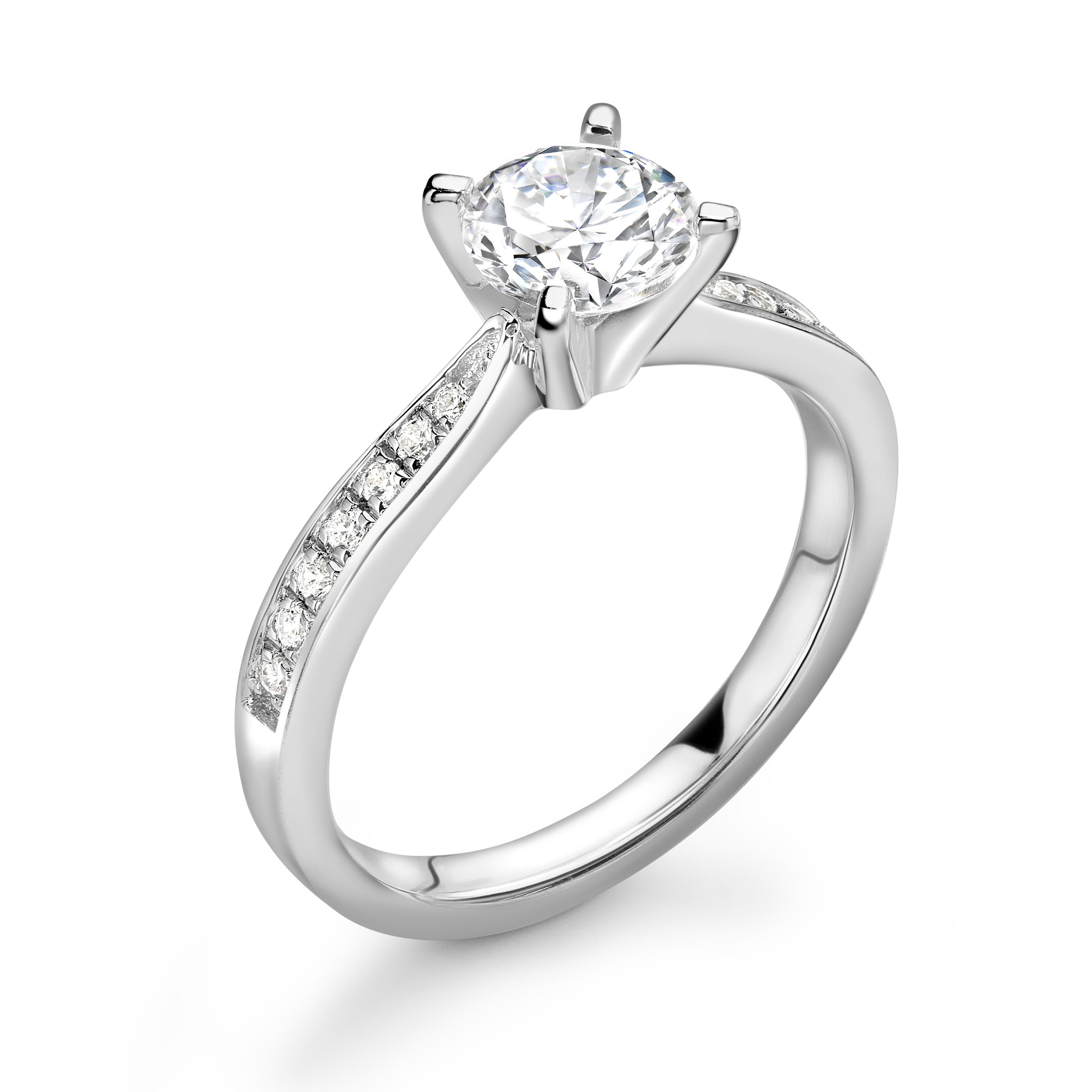 Lot 36 - Platinum Wire Set Diamond Ring 1.19 Carats