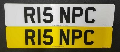 R15 NPC Cherished Private Personalised Number Plate on Retention Ideal Gift