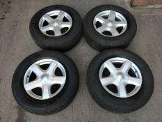 "Isuzu D-Max 4x 17"" Alloy Wheel Set + 7-9mm 255/65 R17 Michelin Tyres"
