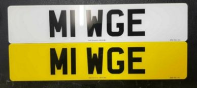 M1 WGE Cherished Private Personalised Number Plate on Retention Ideal Gift