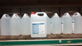 Ten (10x) 5L bottles of Anti Bacterial Hand Sanitizer Liquid - over 70% alcohol