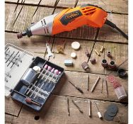 (JH44) Rotary Multitool & Accessory Set Versatile rotary multitool with a 170W motor 120 p...