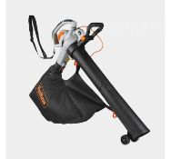 (GE3) 3000W 3-in-1 Leaf Blower Powerful 3000W motor blows, vacuums and mulches leaves into m...