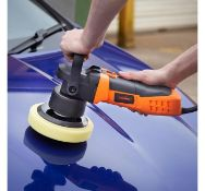 (JH20) Random Orbital Polisher Kit 600W power, the polisher operates at six speed settings fro...
