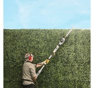(JH42) 600W Pole Trimmer Dual action 45cm precision blades effortlessly cuts through branches ...