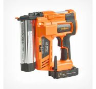 (GE48) Cordless Nail & Staple Gun Features smooth action trigger switch, two firing modes, dep...