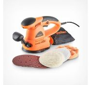 (DD10) Random Orbital Sander Powerful 430W motor with lock on switch and variable speed dial -...