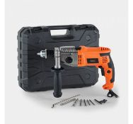 (DD55) 1200w 2 Speed Impact Drill Sturdy metal gear housing is robust for use in toughest cond...