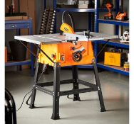 (JH7) 1800W Table Saw High spec table saw features a cross stop with angle scale (+/- 60) allo...