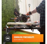 (JH21) 20V MAX Cordless 185mm Mitre Saw 20V Max 2Ah battery included is compatible with other ...